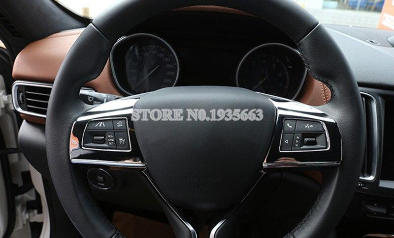 voor maserati ghibli quattroporte interieur stuurwiel knop frame cover 2014 2017 2 stks in voor maserati ghibli quattroporte interieur stuurwiel knop frame