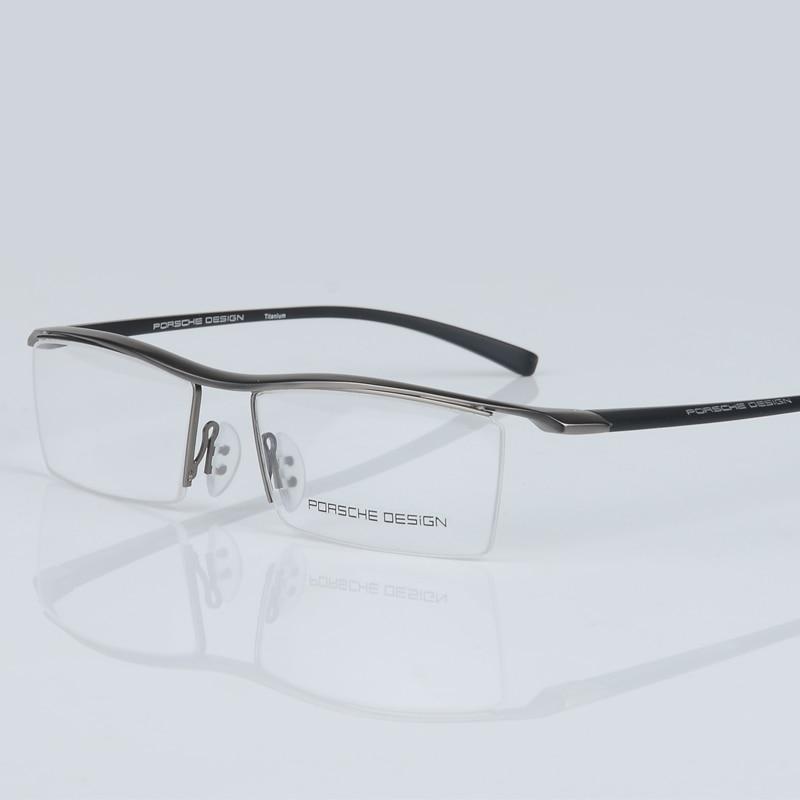 2017 baru pria kacamata bingkai titanium optik setengah bingkai - Aksesori pakaian - Foto 5