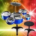 Criativo Infância Música Educacional Toy Simulação Tambores Crianças Mini Drum Set Instrumento Musical de Brinquedo de Presente de Aniversário Criativo