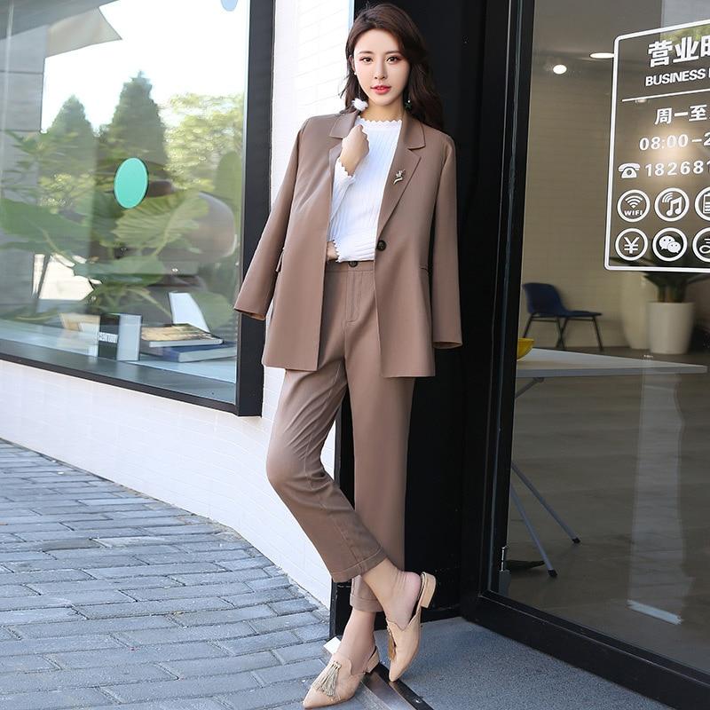 Pantalon Couleur Droite Broche 2 3 1 Automne Toile De 2017 Deux Coton pièce Équipée Solide Nouveau Slim A0x8w1nBqt