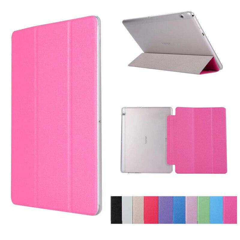 Ultra Slim Stand PU Couverture En Cuir pour Huawei MediaPad T3 10 9.6 ''AGS-L09 AGS-L03 9.6 pouce Dos En Cuir Stand cas Tablet