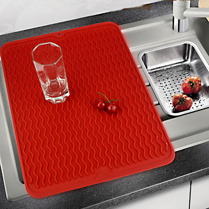 Reliable Hot Sale Large Silicone Table Placemat Premium Heat Resistant Drying Mat Tableware Dishwasher Dish Cup Cushion Pad Dinnerware Home Storage & Organization Bathroom Storage & Organization