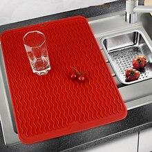 Большой силиконовый столовый столик Премиум термостойкий сушильный коврик посуда посудомоечная машина блюдо чашка подушка коврик столовая посуда Настольный коврик