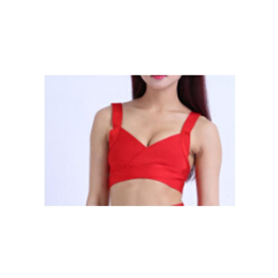 Новинка, модное дамское, связанное из искусственного волокна стрейч-пояс, v-образный вырез, белый, телесный, сексуальный бандаж, кроп Топы