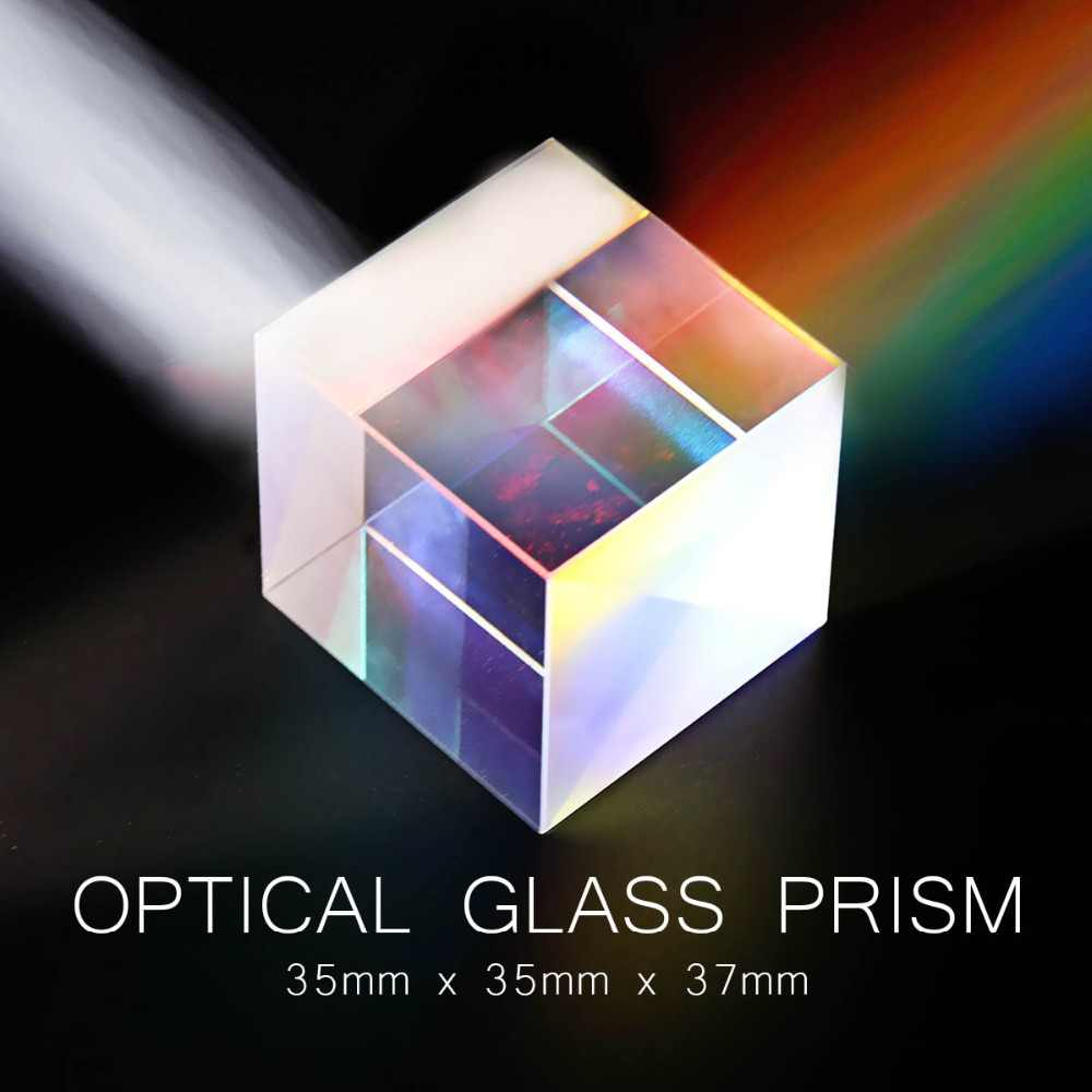 35*35*37 Defective Colorful Combiner Splitter Cross Dichroic Cube RGB Prism Durable Quality