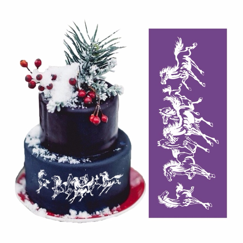 Menjalankan Kuda Untuk Kue Desain Fondant Wedding Cake Jala Kain