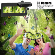 VR Box Headset 3D VR Glasses Virtual Reality + Virtual Reality 3D Video Camera for Samsung Mobile Phone Galaxy s5 /s6 /s7 note