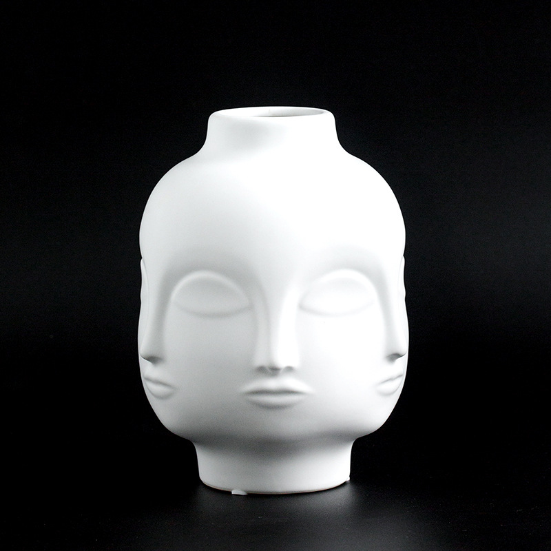 Ladies Face Head Planter Vase Face Vase For Flower Human
