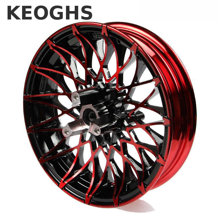 Keoghs Double Twin Brake Disc Front Wheel Rim 12*2.75 Inch Aluminum Alloy 70mm Disc Install For Yamaha Honda Scooter Modify keoghs real adelin 260mm floating brake disc high quality for yamaha scooter cygnus modify