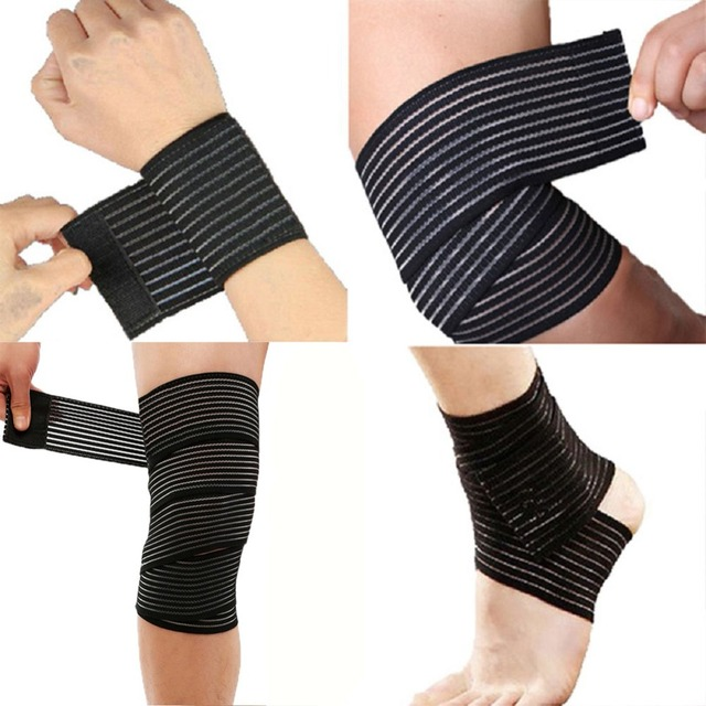 1 Pc Elastic Bandage Compression Knee Support Sports Strap Knee Protector Bands Ankle Leg Elbow Wrist Calf Brace Safety 40~180cm Fitness Equipment Sports