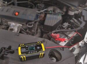 Image 5 - FOXSUR 12V 8A 24V 4A 3 stage Smart Battery Charger, 12V 24V EFB GEL AGM WET Car Battery Charger with LCD display & Desulfator