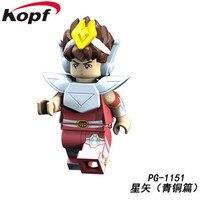 PG8128 Saint Seiya Super Heroes knights of the zodiac Athena Shiryu Glacier Tutankhamu Bricks Building Blocks Children Gift Toy 3