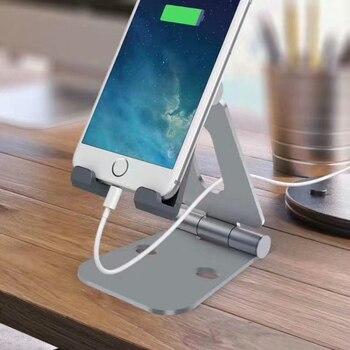 Uchwyt na telefon komórkowy stojak na iPhone'a X 8 7 6 antypoślizgowe biurko stojak na telefon dla Samsung Xiaomi Huawei uchwyt na tablet telefon uchwyt biurkowy