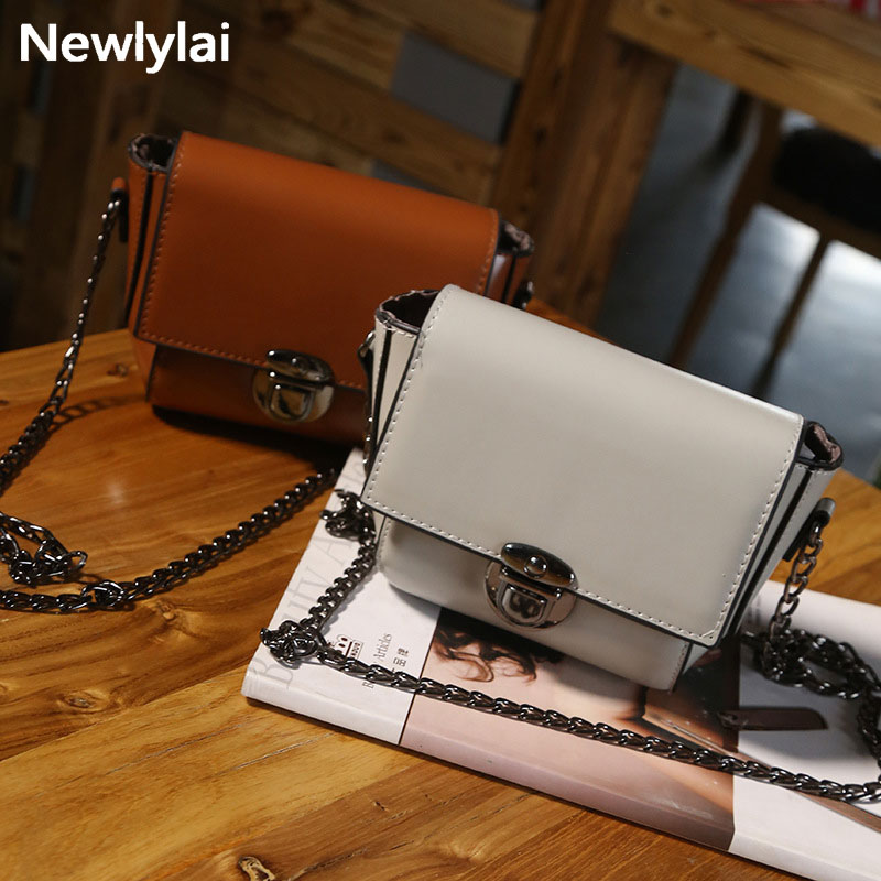 2017 the outermost layer of skin chain latch bales pu bag chain single shoulder BaoXiaoFang restoring ancient ways JJ170016