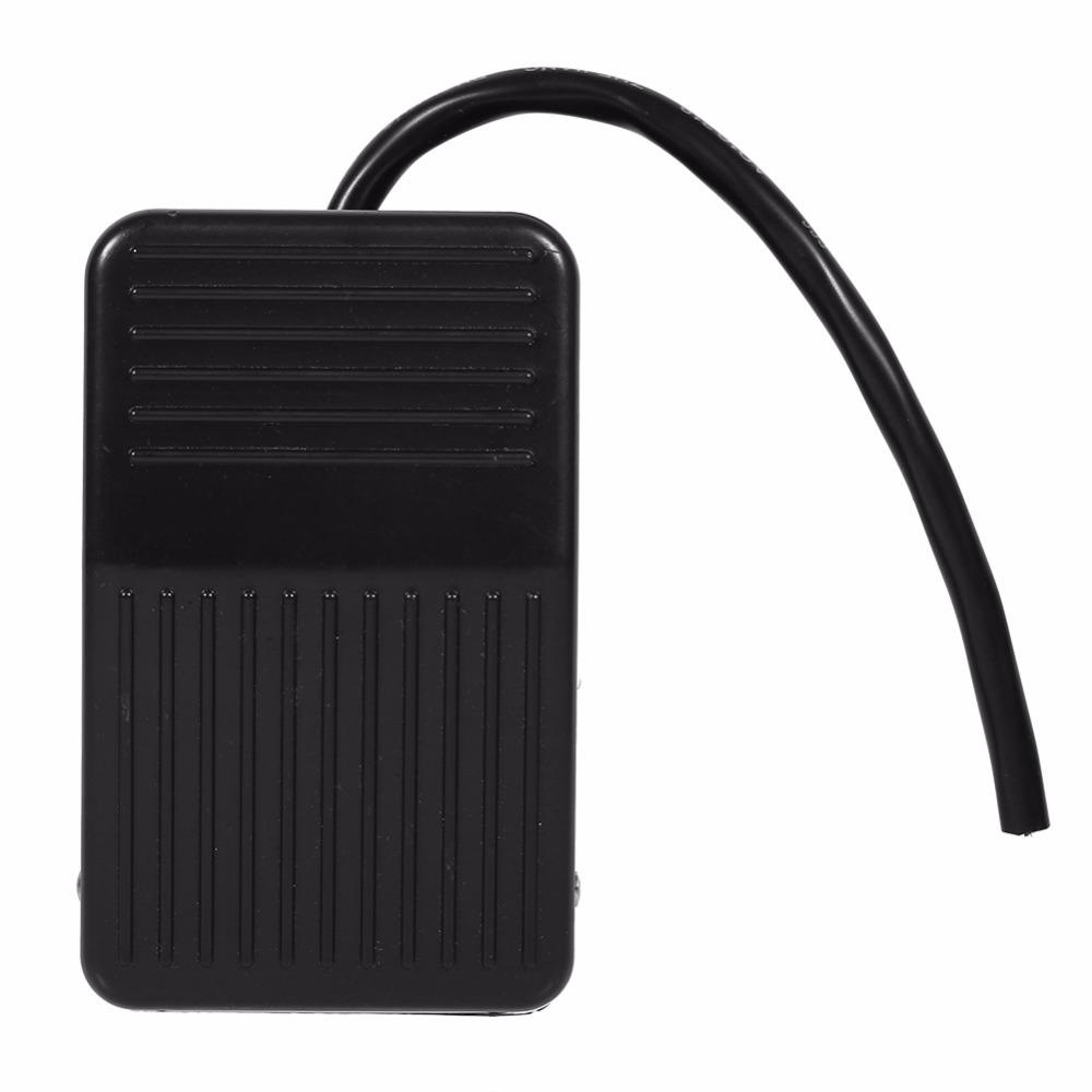 On/Off Control Black Color + 10cm Cord 1pc 220V 10A Electrical Power Plastic Foot Pedal Switch