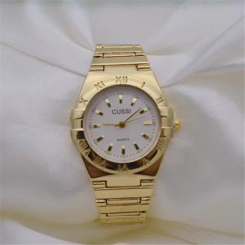 CUSSI New Woman Watches Gold 2017 Brand Luxury Ladies Dress Wristwatches Bracelet Watches Fashion Quartz Clock Reloj Mujer Gift