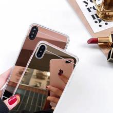 Luxury Rose Gold Slim Mirror TPU for Vivo Y85 case For V9 Back Cover shell VIVO coque cases fundas capa