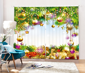 Luxury 3D Blackout Window Curtains For Living room Bedding room Home Decorative Drapes for Chirstmas Cotinas para sala
