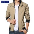 2017 new fashion autumn male casual jacket solid fall mens jackets and coats men's jacket plus size 3XL 4XL 5XL