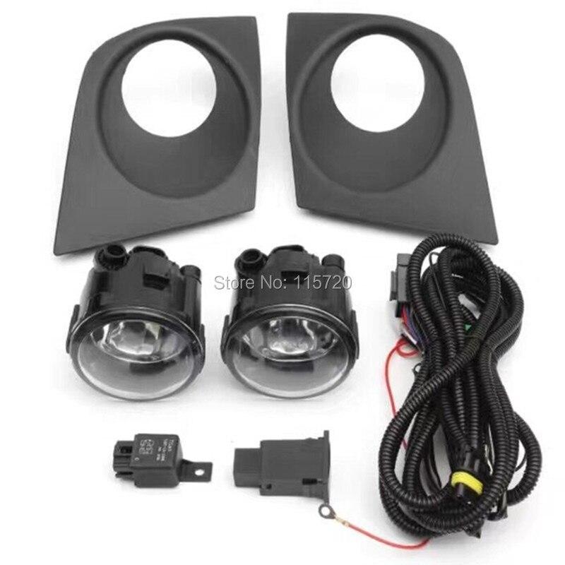 One Set Fog Light Wiring Harness Front Fog Light Lamp Cover Fog Light Lamp Grill For Nissan