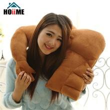 Hoiime Creative Boyfriend Pillow Winter Warm Toys New Brown Strong Muscle Man Single Arm Plush Christmas Gift