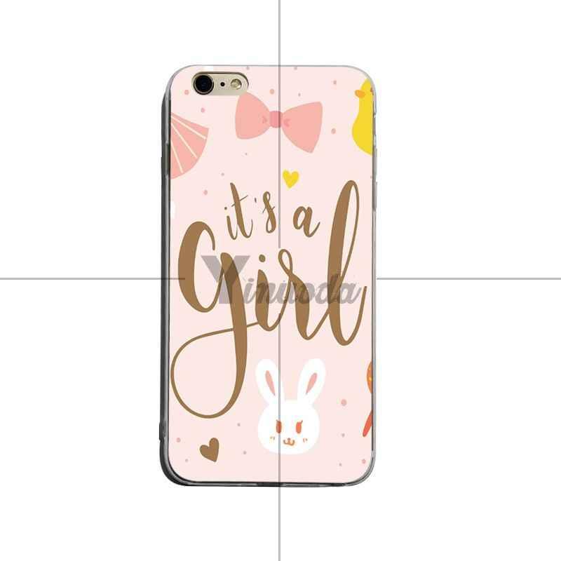 Yinuoda เป็นสาว Tropical Paradise สีชมพูสไตล์ 2018 สี tpu เคสโทรศัพท์สำหรับ iPhone XSMax X XS XR 7 8 plus 6 วินาที 6 plus