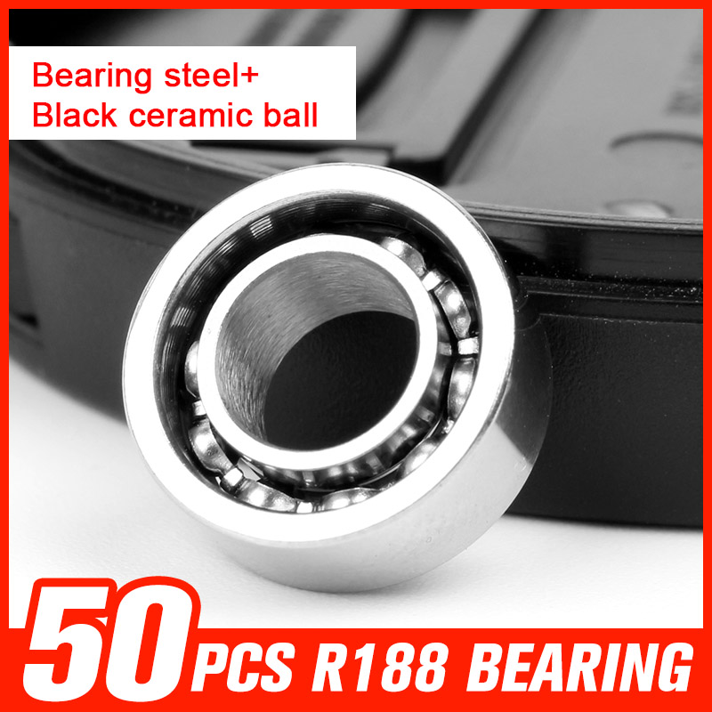 50pcs Bearing R188 Bearing Steel Ceramic Ball Bearings for Metal Hand Spinner Game Spinning Time Hardware Tool Accessories mf84zz diy steel ball bearings for model toy robot silver 2 pcs