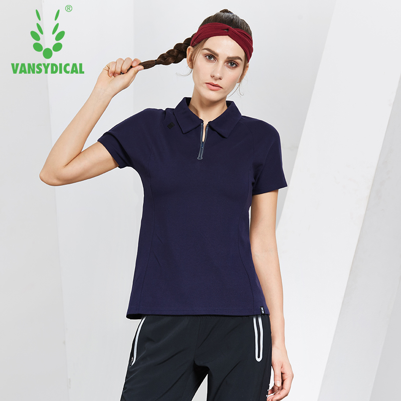 Women Sports Polo Shirts Quick Dry Running Jogging Tops Short Sleeve Golf Training T-shirts Female Fitness Workout Pullovers