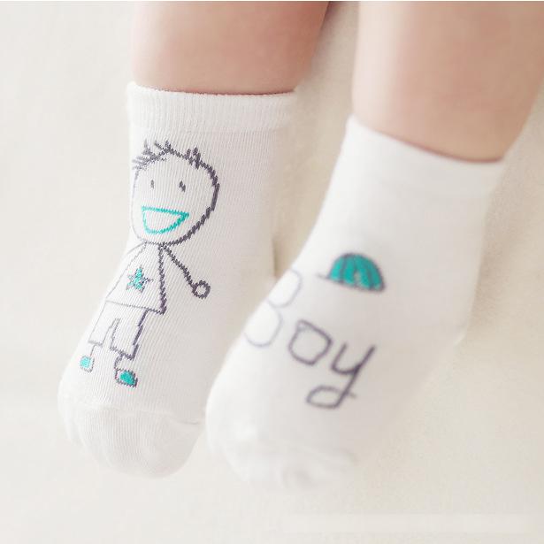 Baby Boys Girls Cute Scrawl Socks Suitable Kids Children Toddler Lovely Socks For 0-4 Years Old Infant Baby