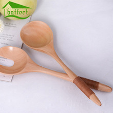 2017 New Wooden Spoon & Fork Salad Cake Baking Ice Cream Spoon Baby's Spoon  Japanese Korean style
