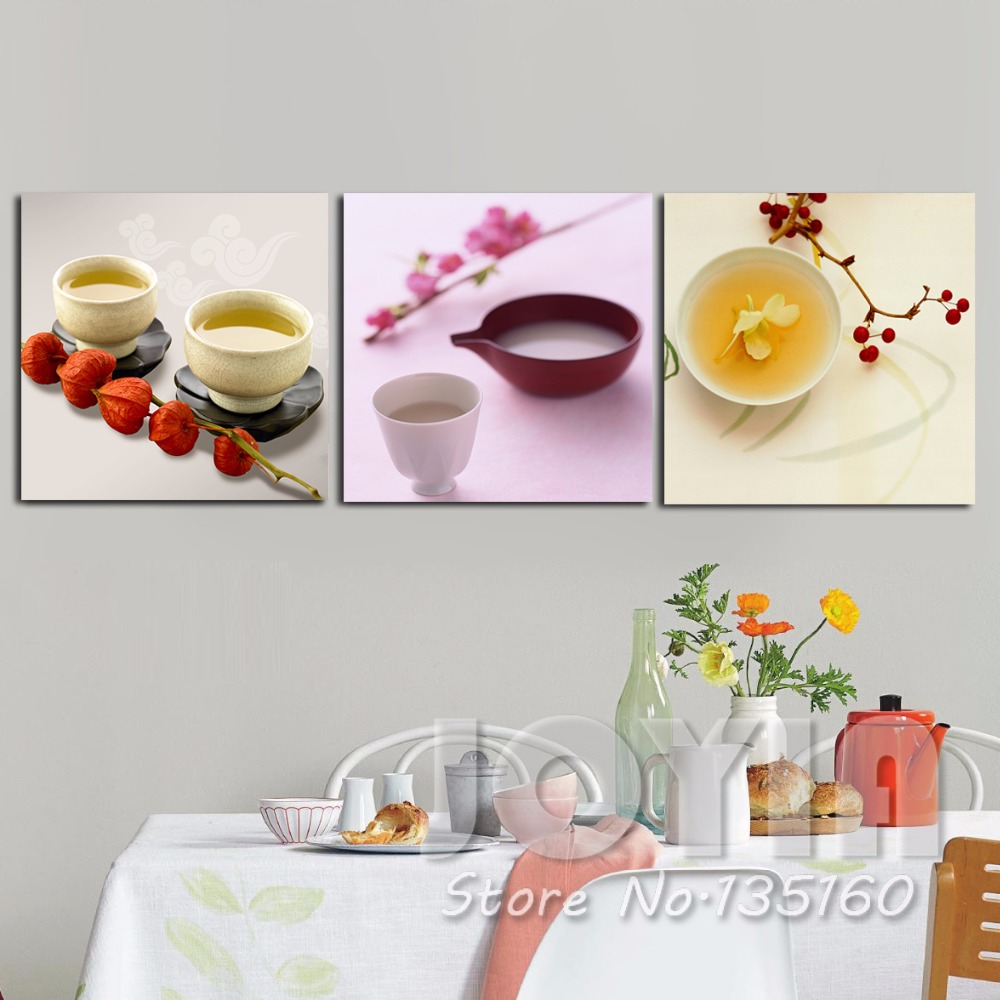 3 Panel Kitchen Wall Decor Canvas Painting Wall Pictures