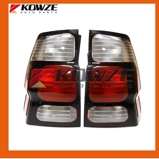 One Pair Tail Lamp Rear Light White For Mitsubishi Pajero Montero Shogun Sport Challenger Nativa Old Model 1996-2011 2003 2008 year for mitsubishi pajero sport montero sport nativa pajero dakar led tail lamp rear light all smoke black color sn
