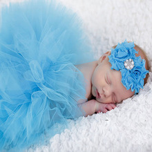 Photography Props Newborn Infant Costume Outfit Princess Baby Tutu Skirt Headband Baby Photography Props Baby Skirt AY986711