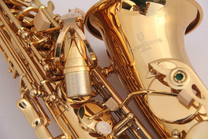 все цены на  2017 Japan YANAGISAWA W01 A 901 alto saxophone drop EGold Lacquer Sax Music Ups Free Shipping Professional performance music  онлайн