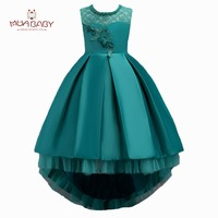 MUABABY Summer Children S Dress Kids Girl S Clothing Princess Dress Party Ball Gown Lace Baby