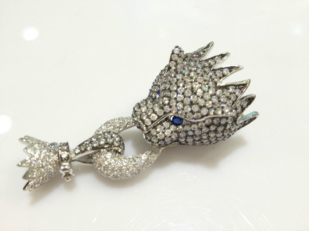 Top qualité résultats de bijoux et composants Animal léopard fermoir de collier cubique Zircon panther livraison gratuite bijoux de mode - 4