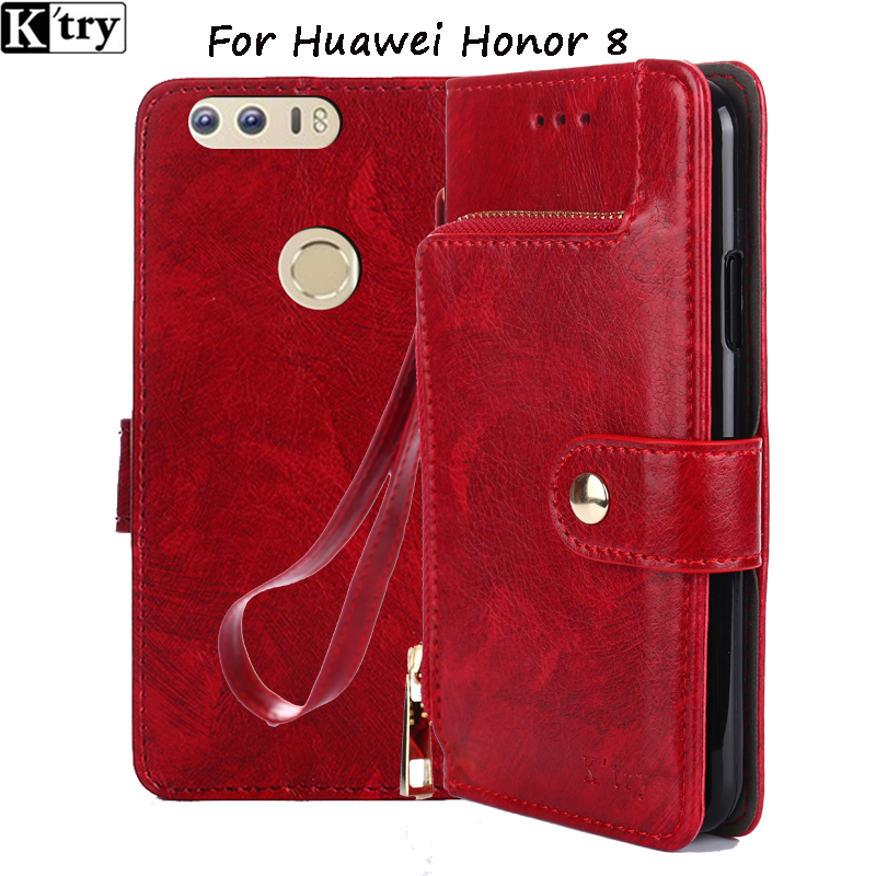 for huawei honor 8 case leather 5.2 inch 3gb 4gb original honor 8 cover black flip funda ultra thin silicon honor8 coque K'try