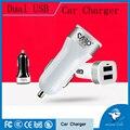 Alta calidad universal 2 puerto 2.1A rápido cargador de doble cargador de coche USB para iphone ipad samsung galaxy