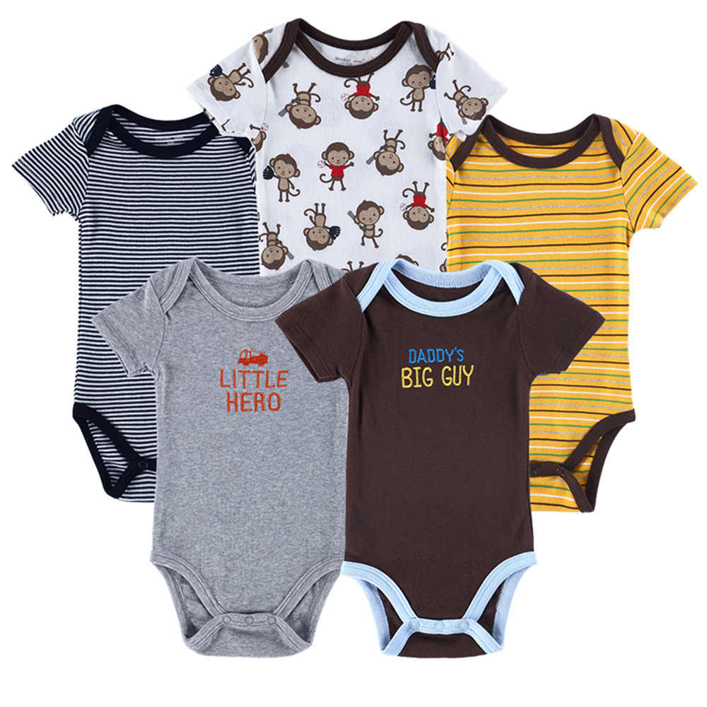 265ebd774b35f Detail Feedback Questions about 5PCS Baby Rompers Newborn Baby ...