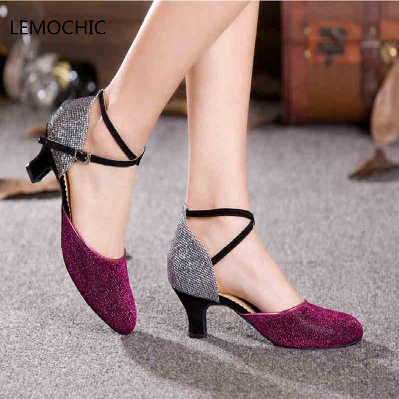 LEMOCHIC tap jazz salón de baile latino zapatos de baile para mujer kitten  heel glitter zapatos de baile salsa tango del vientre femenino venta  caliente en ... c24cc783d436