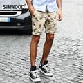 2016 Nova Chegada Men Shorts Casual Slim Fit Mid Zipper Fly calças Na Altura Do Joelho Calções de Impressão Plus Size Frete Grátis KD515