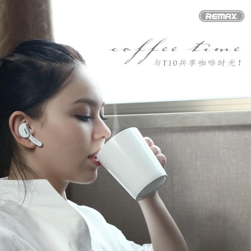 Remax T10 earphone headphone Mini Style V4.1 Wireless Bluetooth Earphone Handfree for Smart Phone