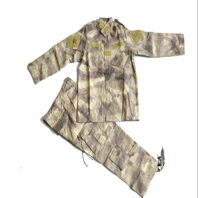 80 ~ 160 cm enfants militaire formation camouflage vêtements pantalons costumes sports de plein air camping randonnée CS uniforme chemise pantalons ensembles