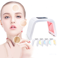 4 Colors PDT Photon Therapy Beauty Machine LED Facial Mask SPA Phototherapy For Face Skin Rejuvenation Acne Remover Anti wrinkle