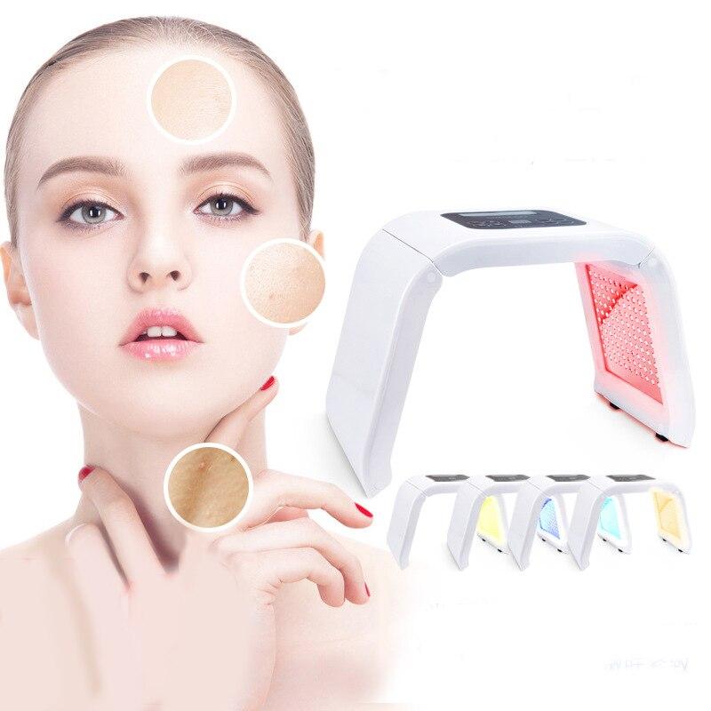 4 couleurs PDT Photon thérapie Machine de beauté LED masque Facial SPA photothérapie pour le rajeunissement de la peau du visage