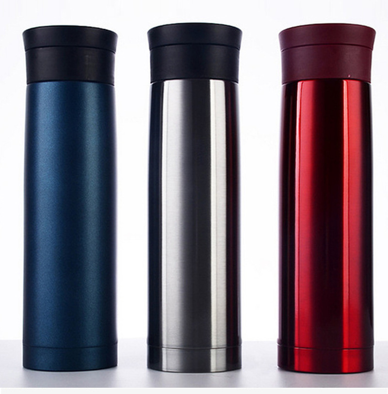 500 ml BPA FREIE Isolierte sport outdoor auto MILCH kaffee Tasse Edelstahl Thermos Wasser Flasche Vakuum Glaskolben Reise TEE becher