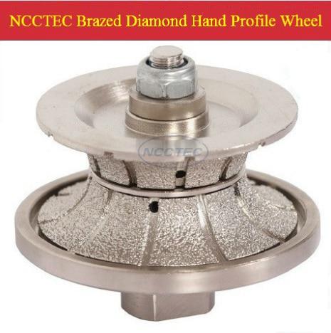 [75mm*40mm ] Diamond Brazed Hand Profile Shaping Wheel NBW V7540 FREE Ship (5 Pcs Per Package) ROUTER BIT FULL BULLNOSE 40mm V40