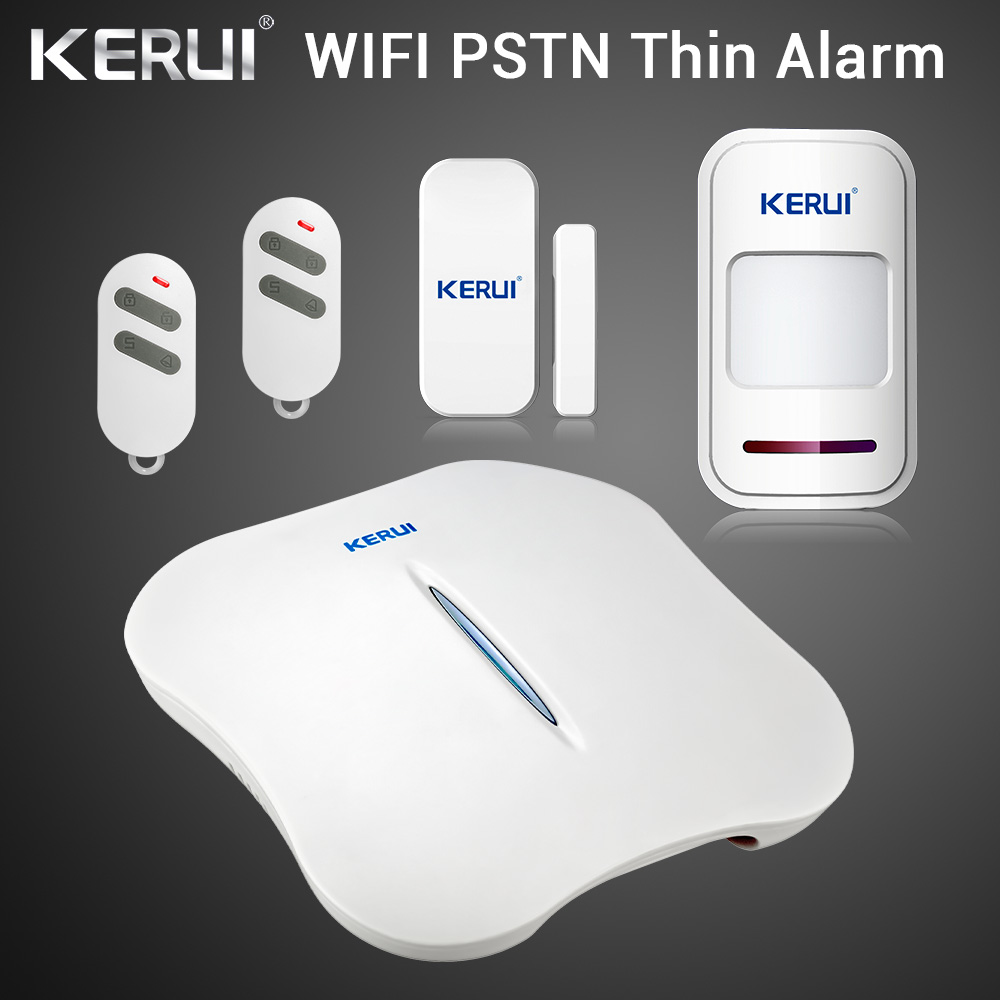 KERUI W1 WIFI Alarm System Home PSTN Burglar Security Intelligent System Android IOS APP Control Wireless Motion Door Detector 1