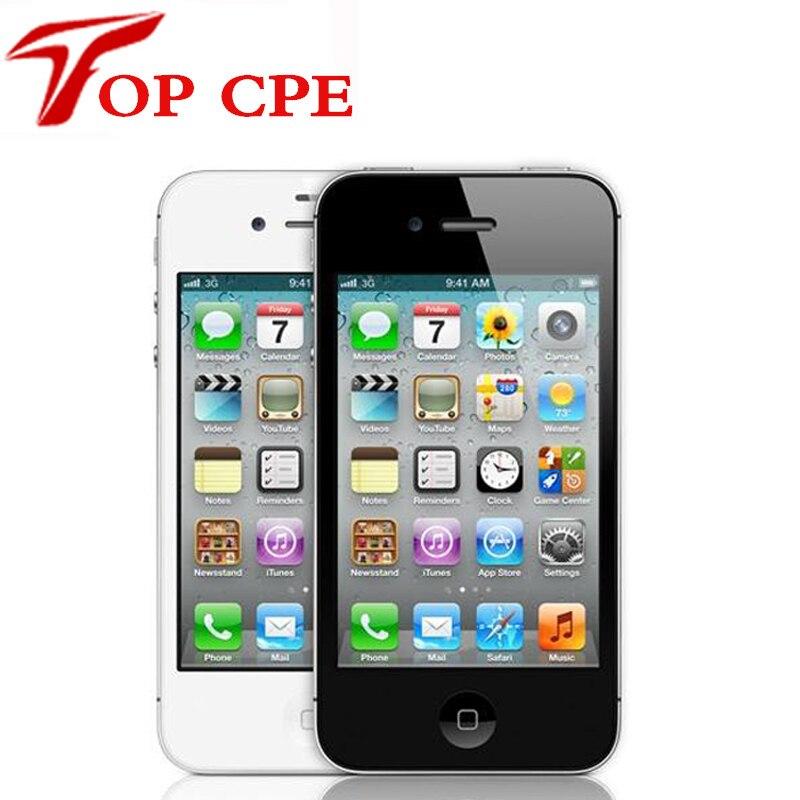 Цена за Iphone 4 завод оригинальное разблокирована apple iphone 4 8 ГБ/16 ГБ/32 ГБ сенсорный экран gps wifi двойной 3 г icould использовать ios 7 мобильный телефон