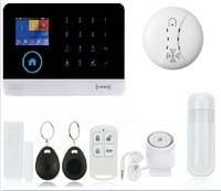 WIFI & GSM/GPRS Intranet Alarm System with Free APP for Remote Monitor & Controll by Wireless PIR & Door Sensor & Smoke Sensor